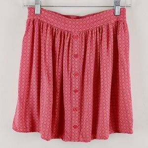 Mossimo Pink and Yellow Micro Print Circle Skirt